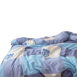 璞语简约格调 40支纯棉三件套 蓝色 1.2m床