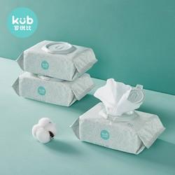 kub 可优比 宝宝珍珠纹湿巾 80抽*6包