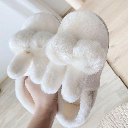 反季促销冬季棉拖鞋加厚毛绒月子鞋